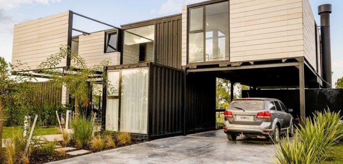 Hacen una vivienda 35% más barata con contenedores