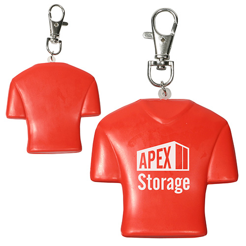 Jersey Stress Reliever Key Chain Red