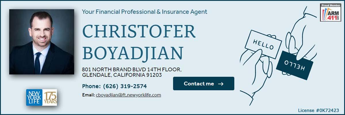 Christofer Boyadjian NewYorkLife Life insurance agent