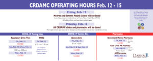CRDAMC Presidents Day hours