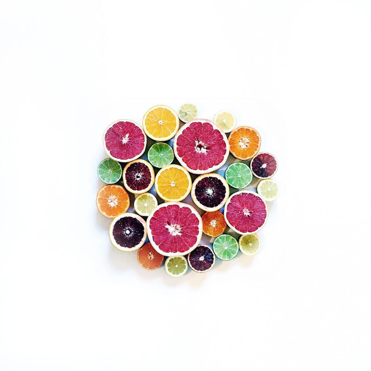 Photo by Ja Soon Kim of brightly colored, sliced citrus pieces