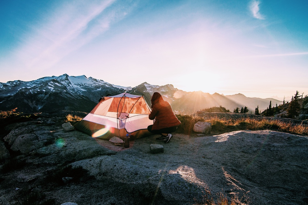 Bradley Castaneda photo with tent on top of mountain