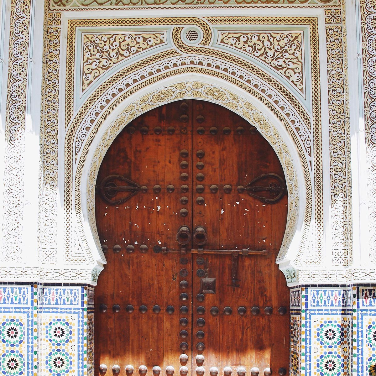 Beautiful doorway of an exquisite Morroccan architecture