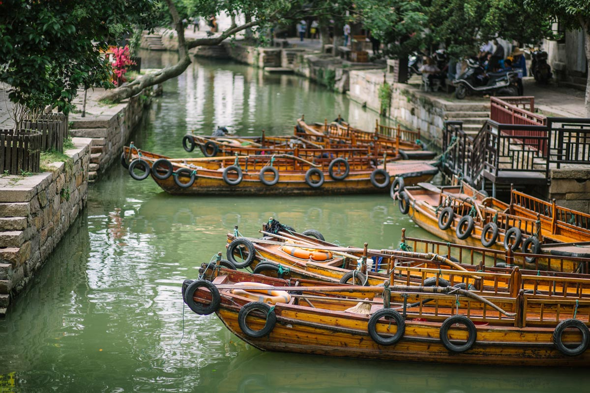 Boats in a river
