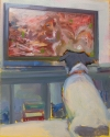 Jack Russel Watching Squirrel TV Artist Kieran Collins