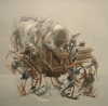 El Covered Wagon Study by Artist