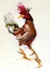 Rooster Study 8-28-18 Artist Daniel Ochoa