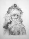 Old Man - after Rembrandt by Artist Masha Gusova