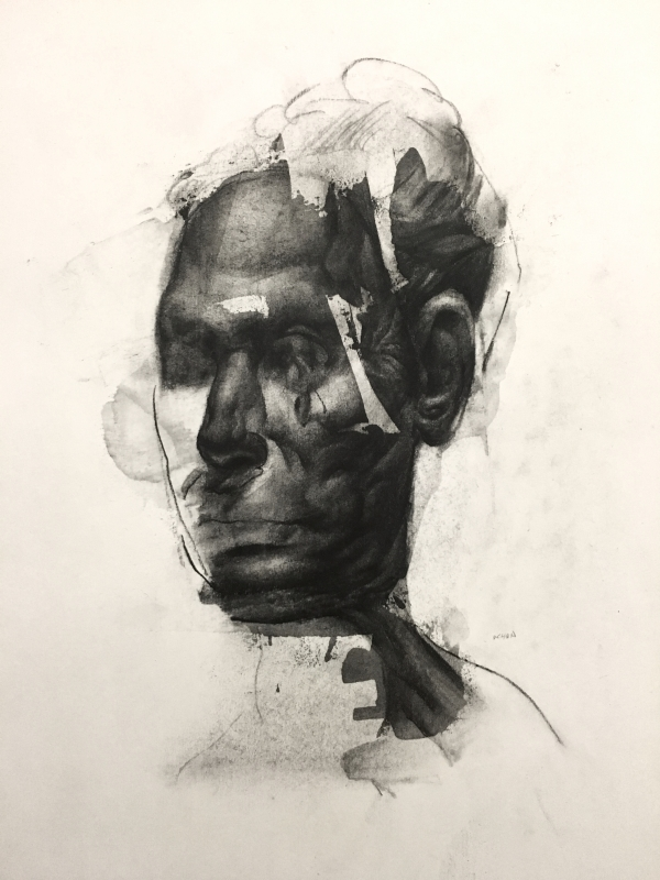 Portrait Study1-4-18 by Artist Daniel Ochoa