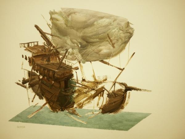 Sail Study 1-12-18 by Artist Daniel Ochoa