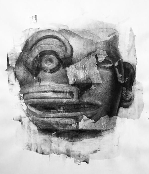 Mexican Sculpture 1-16-19 by Artist Daniel Ochoa