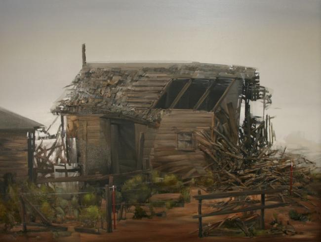 Fallen Barn by Artist Daniel Ochoa