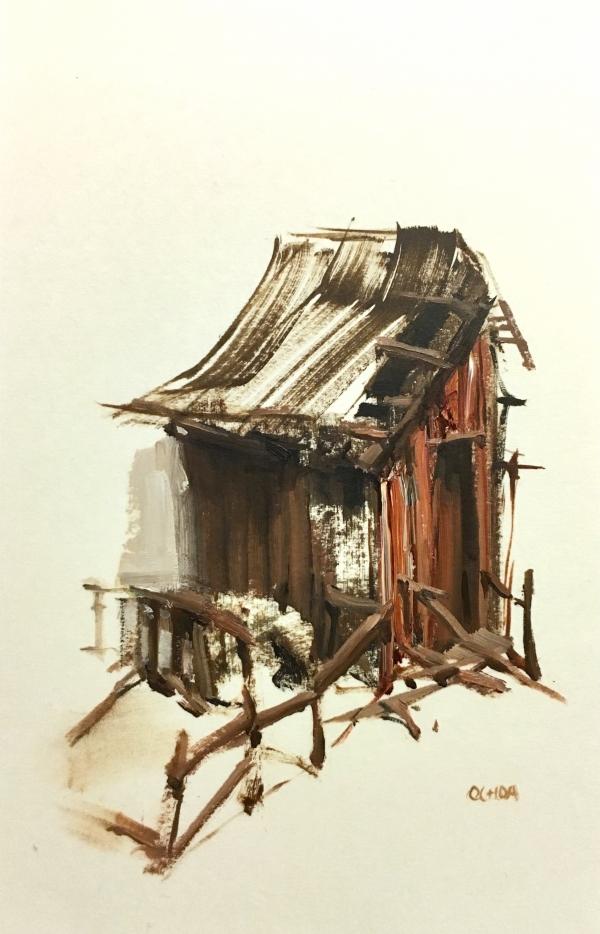 Barn Study 2-1-18 by Artist Daniel Ochoa