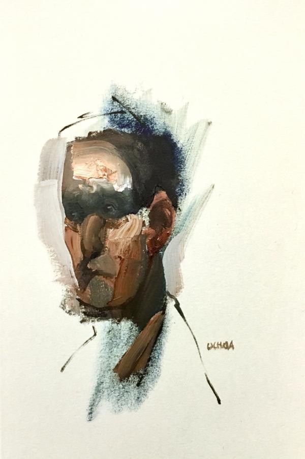 Portrait Study 2-4-18 by Artist Daniel Ochoa