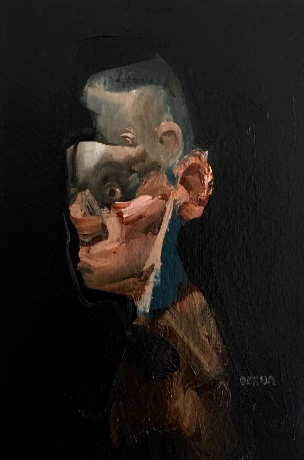 Portrait Study 2-5-18 by Artist Daniel Ochoa