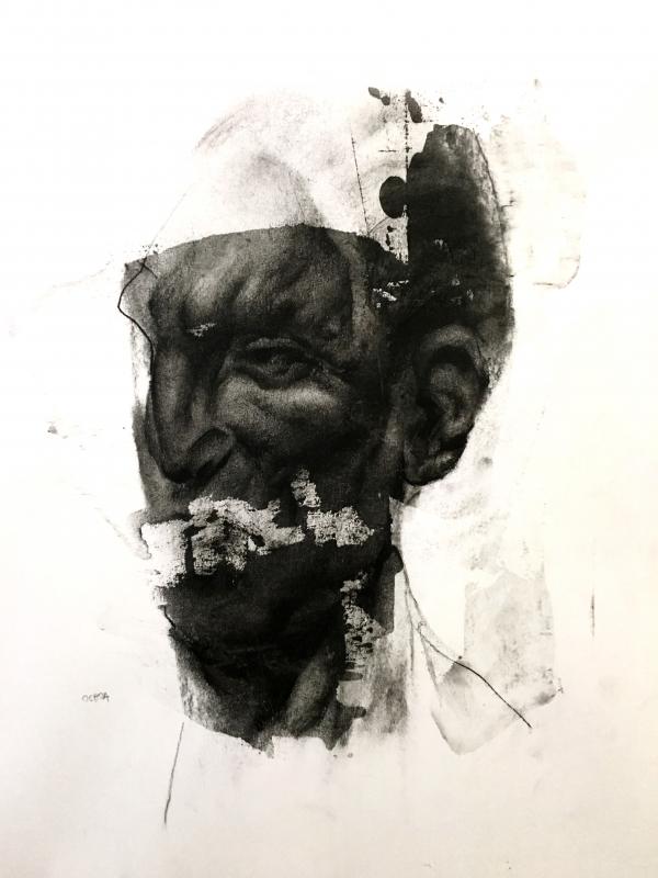 Portrait Study 2-9-18 by Artist Daniel Ochoa