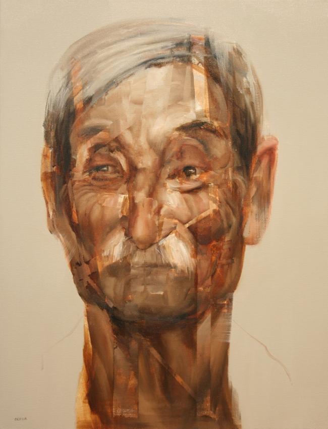 Bisabuelo Portrait by Artist Daniel Ochoa
