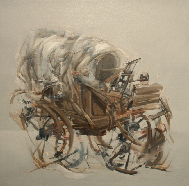 El Covered Wagon Study by Artist Daniel Ochoa