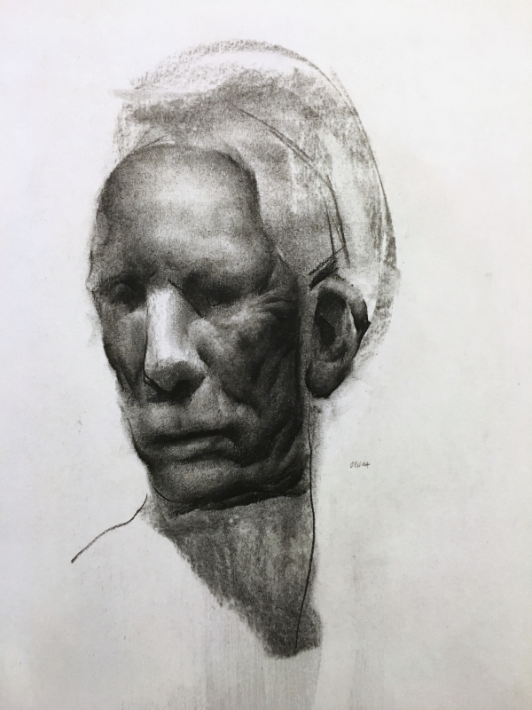 Portrait Study 2-2-26-18 by Artist Daniel Ochoa
