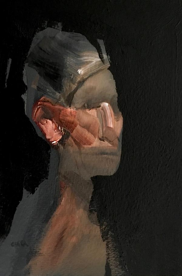 Portrait Study 2-1-18 by Artist Daniel Ochoa