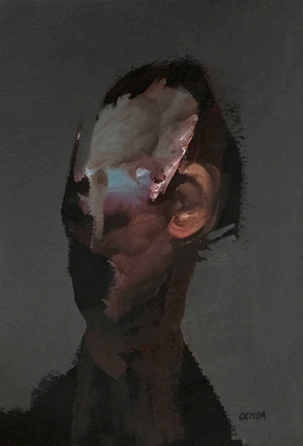Portrait Study 2-2-18 by Artist Daniel Ochoa