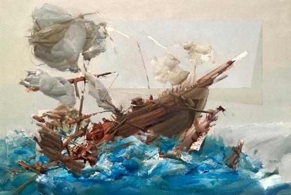 Ship Study 2-12-18 by Artist Daniel Ochoa