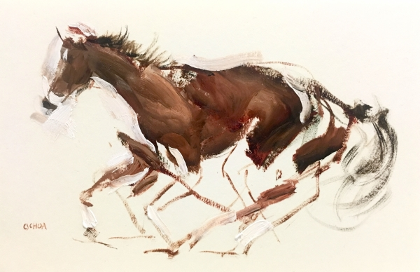 Horse Study 3-3-18 by Artist Daniel Ochoa