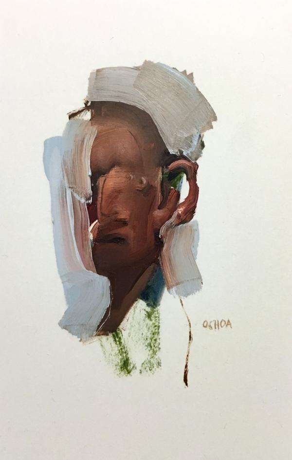 Portrait Study 4-18-18 by Artist Daniel Ochoa