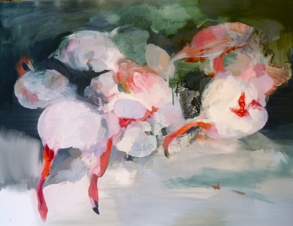 flamingo by Artist Makiko Furuichi