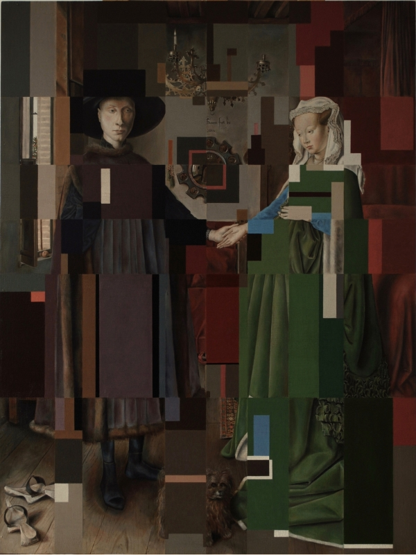 ARNLFNI PRTRT - after Van Eyck by Artist Masha Gusova