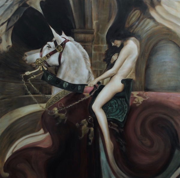 Lady Godiva - after Collier by Artist Masha Gusova