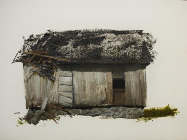 Barn Study 6-30-17 by Artist Daniel Ochoa