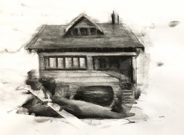 Oakland House Study 7-24-18 by Artist Daniel Ochoa
