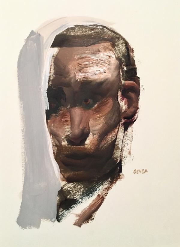 Portrait Study 8-7-18 by Artist Daniel Ochoa