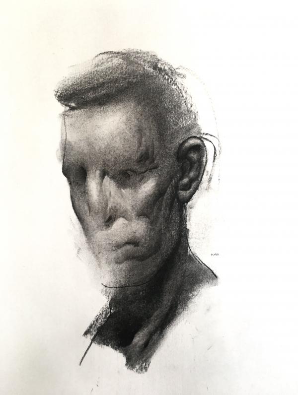Portrait Study 8-16-18 by Artist Daniel Ochoa