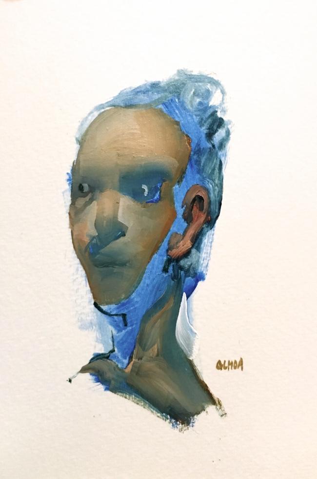 Painting study 8.17.16 by Artist Daniel Ochoa