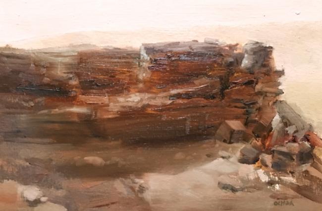Painting Study 8-6-16 by Artist Daniel Ochoa
