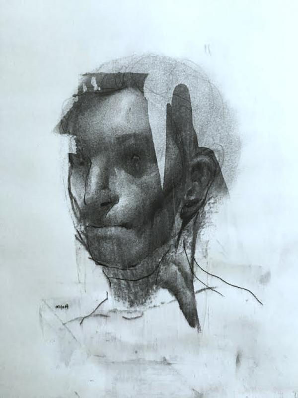 Portrait Study 9-6-17 by Artist Daniel Ochoa