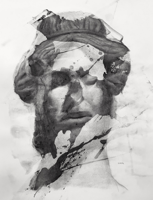Bust Study 9-12-19 by Artist Daniel Ochoa