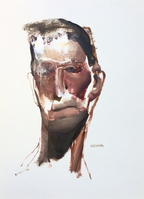 Portrait study 9-13-18 by Artist Daniel Ochoa