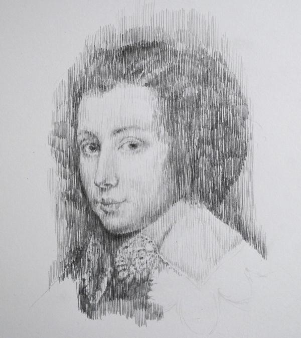 Portrait of a Youth by Artist Masha Gusova
