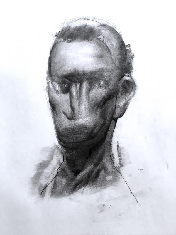 Portrait Study 10-3-18 by Artist Daniel Ochoa