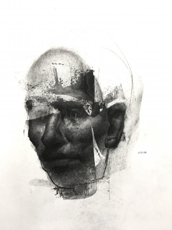 Portrait Study 10-26-17 by Artist Daniel Ochoa