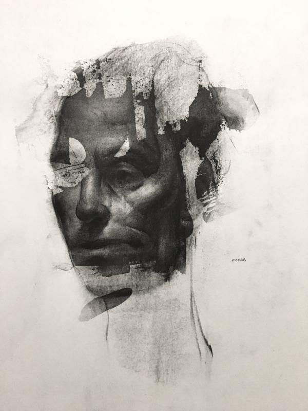 Portrait Study 11-2-17 by Artist Daniel Ochoa