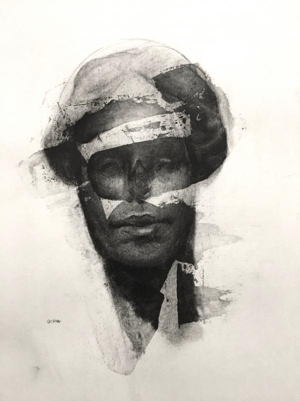 Portrait Study 11-4-17 by Artist Daniel Ochoa