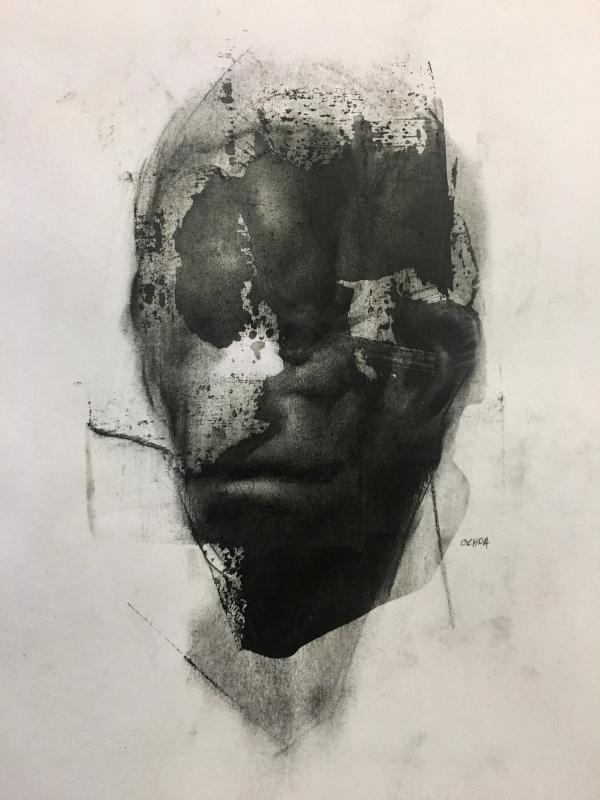 Portrait Drawing 12-21-17 by Artist Daniel Ochoa
