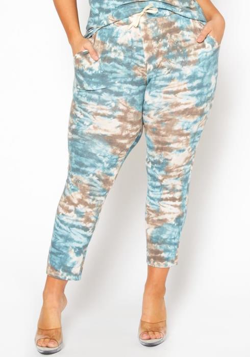 Plus Size Tie Dye Lounge Pants