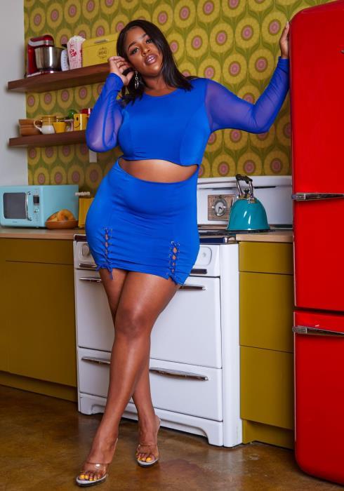 Plus Size Front Cut Out Bodycon Mini Dress