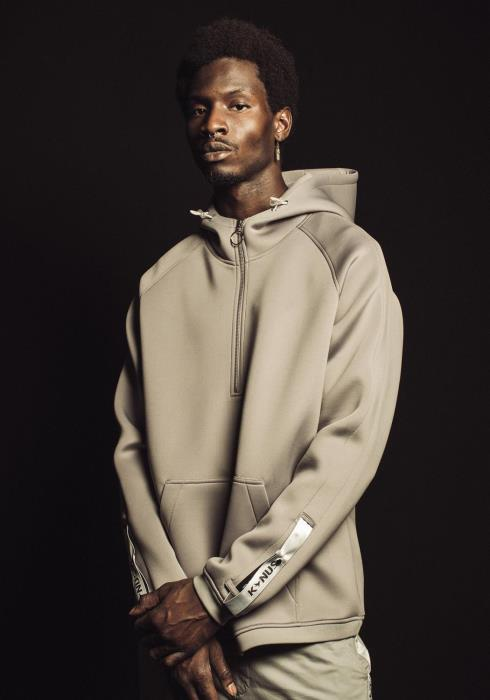 Konus Oversized Pullover Hoodie with Half Zip