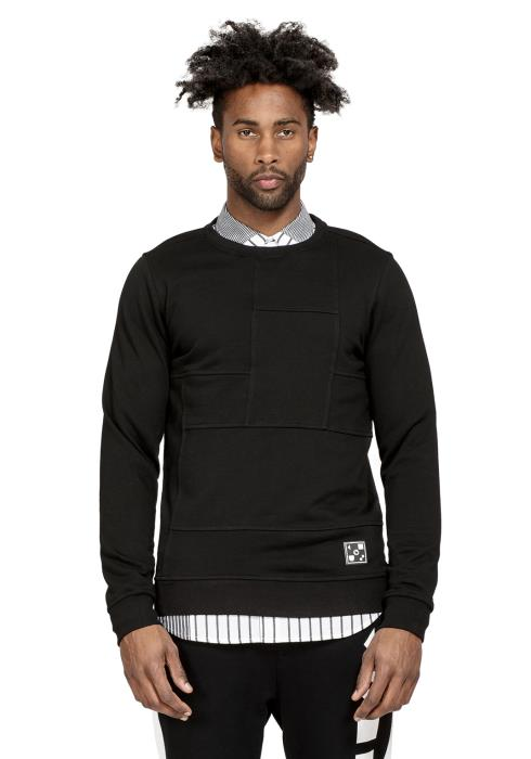 Konus Mens Sweatshirt with Paneling on Front